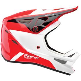 100% Status DH/BMX Kask rowerowy, czerwony/biały